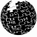 Black Wikipedia logo
